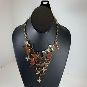 Jewelry - 5/$25 Chunky Gold Butterfly Statement Necklace